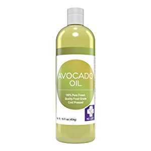 MD. Life Avocado Oil for Hair - 16oz - 100% Pure Avocado Oil for Skin and Cooking – Food Grade High Heat Cooking - Body Oil for Dry Skin – Keto & Paleo Friendly - Makes Excellent Lipgloss Base