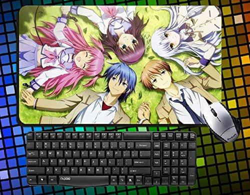 Japanese Anime Angel Beats! Characters Angel Tenshi Tachibana Kanade, Iwasawa Masami,yui,nakamura Yuri Yurippe,otonashi Yuzuru, Naoi Ayato,noda,yusa Large Mouse Pad 60cmx35cm Desk & Mouse Pad Table Play Mat (10)