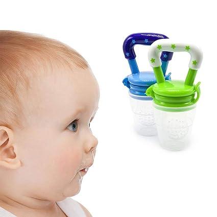Ogquaton Chupete para bebé Creativo Alimentador del bebé Chupete de silicona Herramienta de alimentación del bebé Chupete suave para alimentos ...