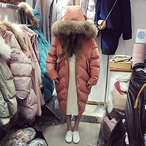 Jacket Blue Long Collar Paragraph Xuanku Long Thickening Cotton Cotton 3119 Jacket Cotton Down Winter Loose Lake Knees Collar Clothing wwxqzgT