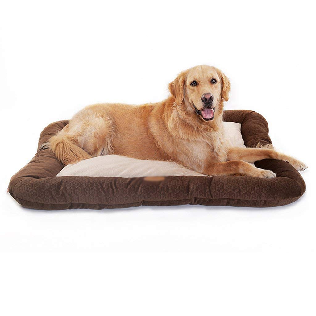 BROWN Small BROWN Small CHONGWFS Large Kennel Pet Supplies Pad Pet Dog Mat Lightly Removable And Washable Kennel Cat Litter Soft And Comfortable Pet Sofa (color   BROWN, Size   Small)