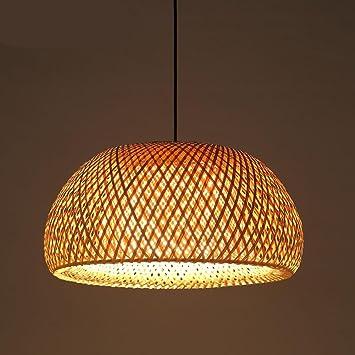 GroBartig WSND Handgemachte Bambus Pendelleuchte Lampe Landhausstil Kronleuchter  Schlafzimmer Bar Café Wohnzimmer Kronleuchter, 110V 240V