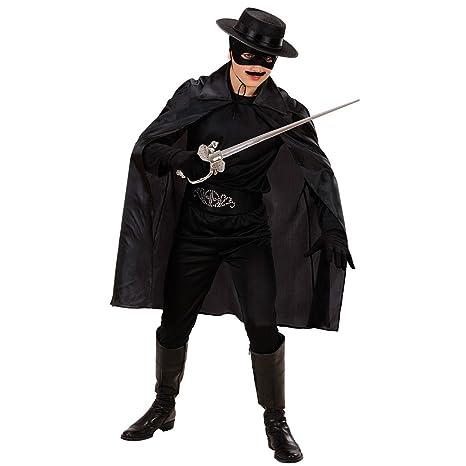 Mantello Zorro nero cappa nera Batman Robin vampiro conte manto carnevale  Halloween per bambini - 100 b79d89f6fabf