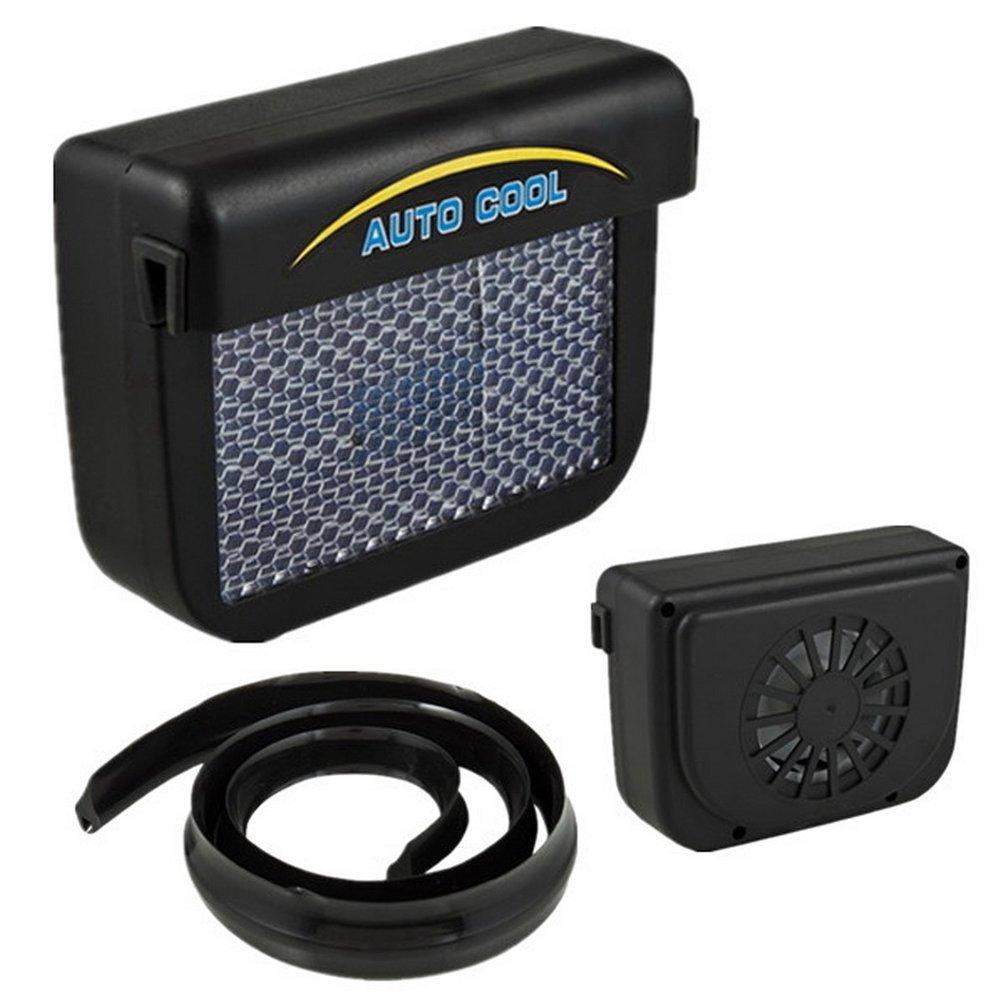 Dailyinshop Solar Sun Power Car Auto Air Vent Cool Fan Cooler Ventilation System Radiator