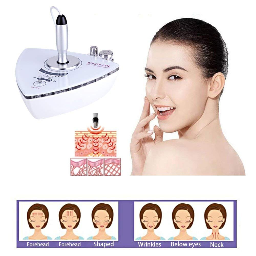 Beauty Star RF Radio Frequency Facial Machine, Home Use Portable Facial Machine for Skin Rejuvenation Wrinkle Removal Skin Tightening Anti Aging Skin Care + Free Gift Aloe Vera Gel by Beautystar (Image #3)