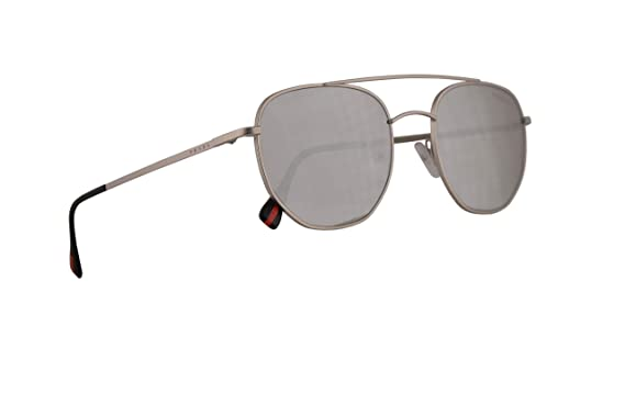 Amazon.com: Prada PS56SS - Gafas de sol (plata mate, con ...