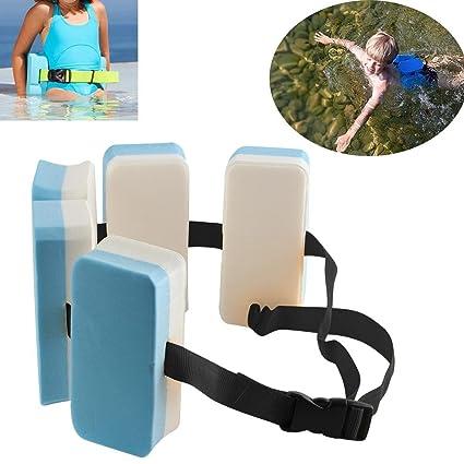 Househome - Cinturón de natación, ajustable con instrucciones de natación, cinturón de cintura de