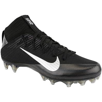 NIKE Men\u0027s Vapor Untouchable 2 Football Cleat Black/Anthracite/Metallic  Silver Size 8 M