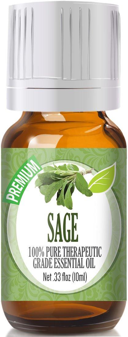 Sage Essential Oil - 100% Pure Therapeutic Grade Sage Oil - 10ml