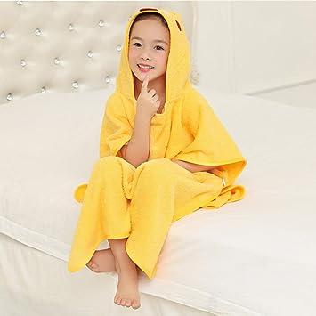 KK&MM Bebé ni?os batas de ba?o con capucha toalla de algodón ...