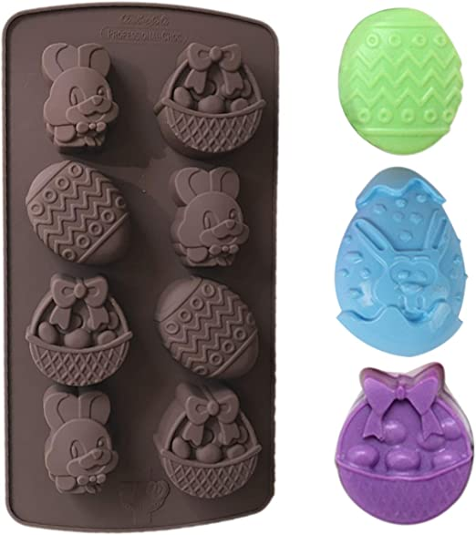 EASTER BUNNY RABBIT COOKIE CHOCOLATE CANDY MOLD MOLDS  DIY EASTER BUTTER PATS