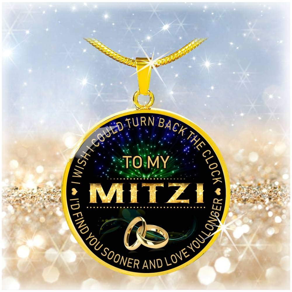 Wife Jewelry HusbandAndWife Necklace for Women to My Mitzi I Wish I Could Turn Back Clock I Will Find You Sooner Gifts Mother Necklace for Mom for Mom