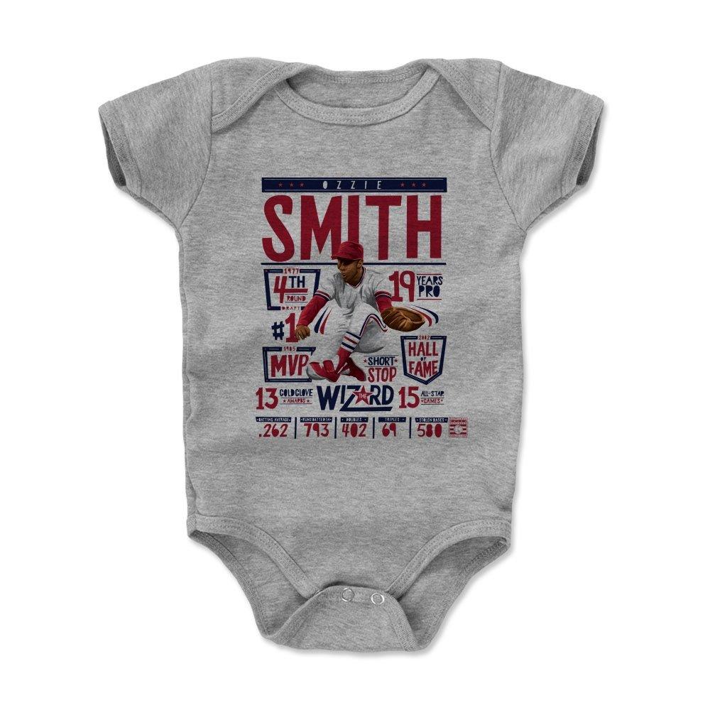 激安特価  500レベル's Months Ozzie 500レベル's Smith幼児& Baby Onesieロンパース - – セントルイス野球ファンギア野球の殿堂の公式ライセンス – Ozzie Smith Stats R B072S94L1C ヘザーグレー 3 - 6 Months 3 - 6 Months|ヘザーグレー, 大宮町:ea17c851 --- svecha37.ru