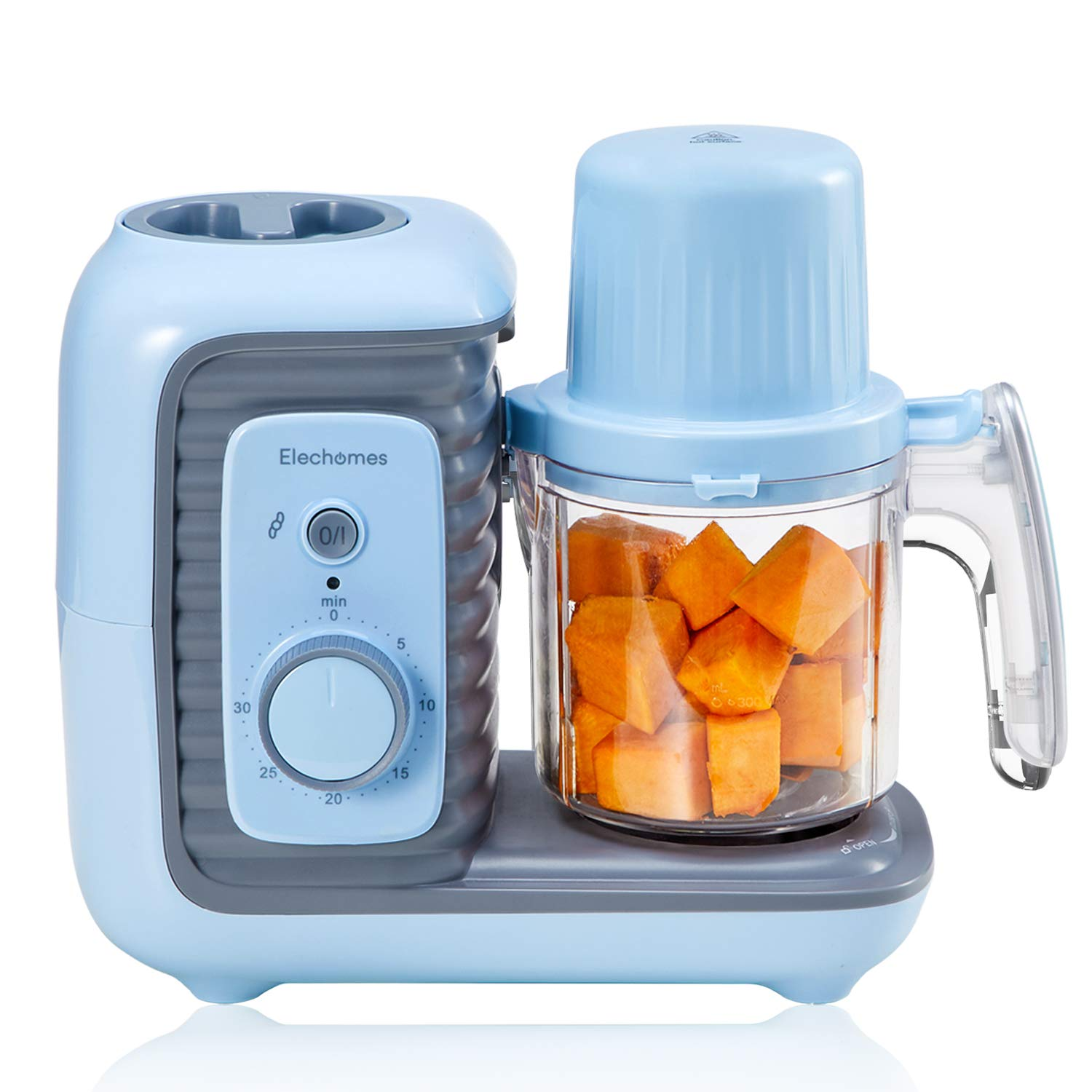 Baby Food Maker, 8 in 1 Elechomes Baby Food Processor Blender Grinder Steamer, for Healthy Homemade Baby Food Mills Machine, Self Cleans and Timer Control, Auto Shut-Off