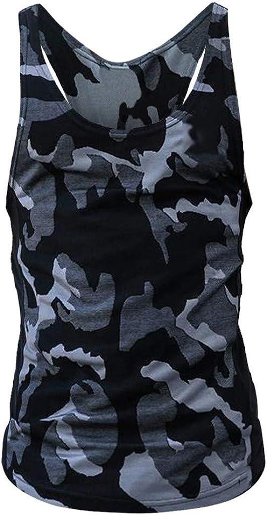 Herren Tank Top Mit Camouflage Druck Kanpola Slim Fit Muskelshirt Sport /äRmellos T Shirt Kurzarm Unterhemd O-Neck Sweatshirt Sommer Bodybuilding Shirts