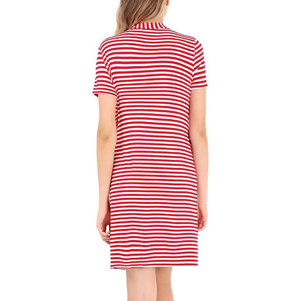 mama stadt Damen Umstandskleid Schwangerschafts Stillkleider Nachthemd Morgenmantel Mit /Ärmellos