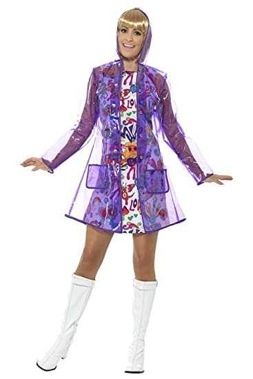 60s Costumes: Hippie, Go Go Dancer, Flower Child, Mod Style Smiffys Womens 60s Rain Mac $14.87 AT vintagedancer.com