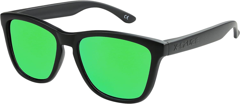 X-CRUZE/® Gafas de sol Nerd polarizadas estilo Retro Vintage Unisex Caballero Dama Hombre Mujer