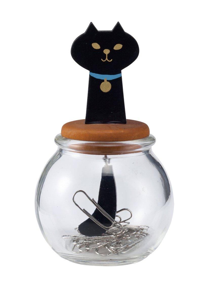 DECOLE: ''MIRANDA'' CAT TAIL CLIP BOTTLE (Black Cat)