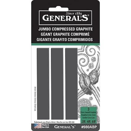 General/'s Kimberly Compressed Graphite Rectangular Art Sticks 6B