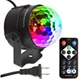 themoove - 7 Colors LED Sound Activated Trippy Disco Party Lights Supplies Strobe for Karaoke Kid Bedroom Birthday Gift Dancing Christmas DJ Accessories Night Parties