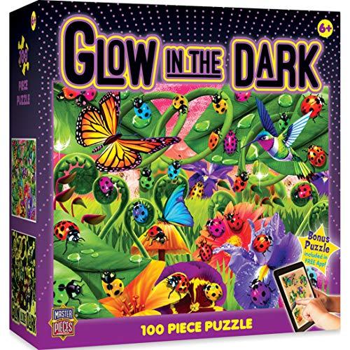 (MasterPieces  Glow in the Dark Ladybugs - 100 Piece Kids Puzzle )