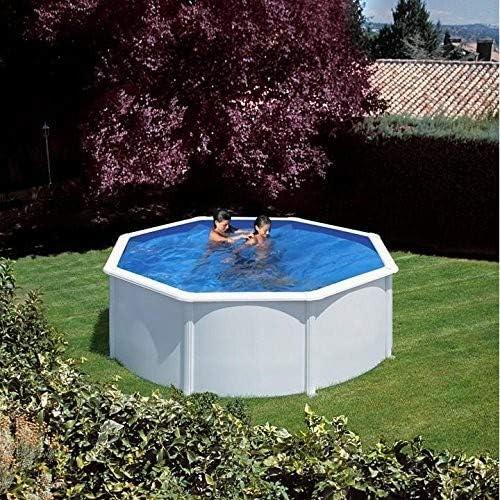 Gre KITPR3583- Piscina Azores desmontable redonda de acero color ...