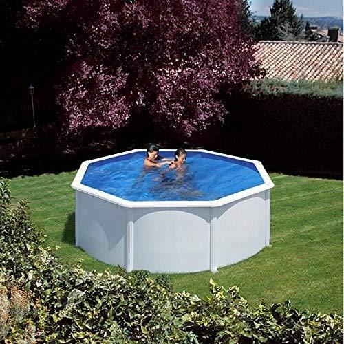 descuento de ventas en línea - Gre KITPR3583- Piscina Azores desmontable rojoonda de de de acero Color blanco Ø350x132 cm  compra en línea hoy