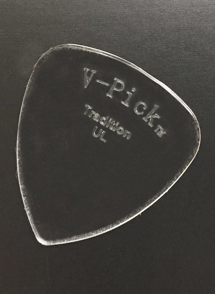 V-Picks Switchblade Ghost Rim SWBLGSTRM3 Guitar Picks 3-Pack w//Bonus RIS Pick