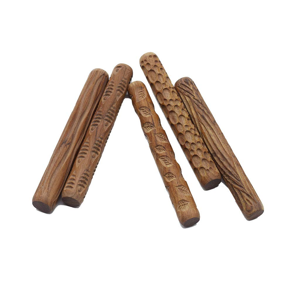 Wood Texture Roll Pressed Printing Texture Tools Polymer Clay Ceramic Pottery Tools 10pcs/Set