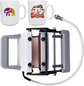 MugMate Press Cup Heat Transfer Press Attachment Changeable Mug Sublimation Press Holder with Heating Element for 10oz 11oz Mugs, Works with Artista Press Machine
