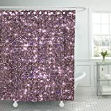 Hot Pink and Brown Shower Curtain Breezat Shower Curtain Ombre Pink Sequin Abstract Bling Bokeh Waterproof Polyester Fabric 72 x 72 Inches Set with Hooks