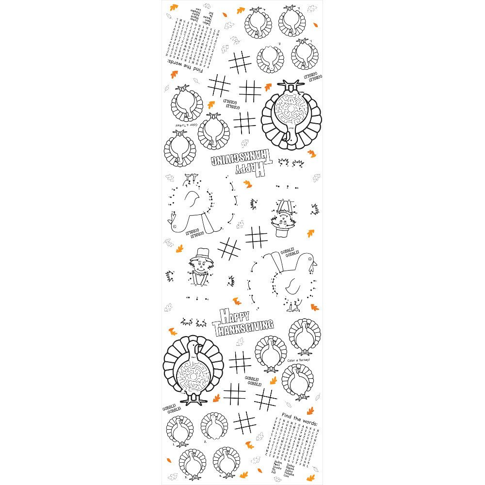 Thanksgiving Kids Activity Paper Tablecover