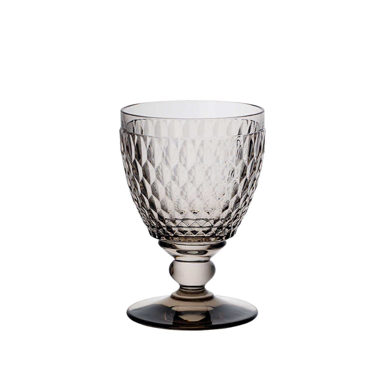Villeroy & Boch Boston Coloured Water Glass Smoke, 400 ml, Crystal Glass, Grey