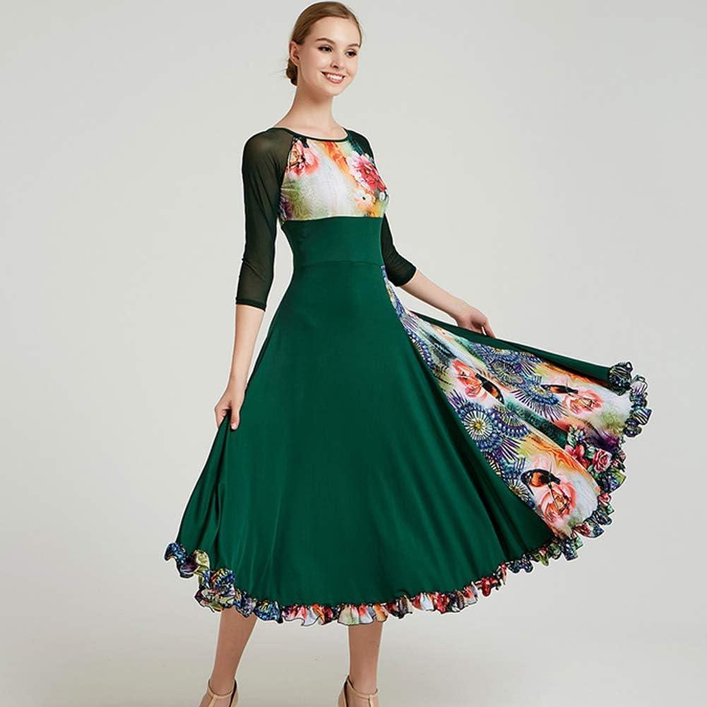 Custom Made Women/'s Floral Ballroom Dance Competition Dresses