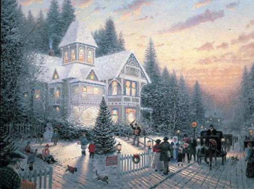 Ceaco Thomas Kinkade Painter of Light Victorian Christmas 1000 Piece Jigsaw Puzzle