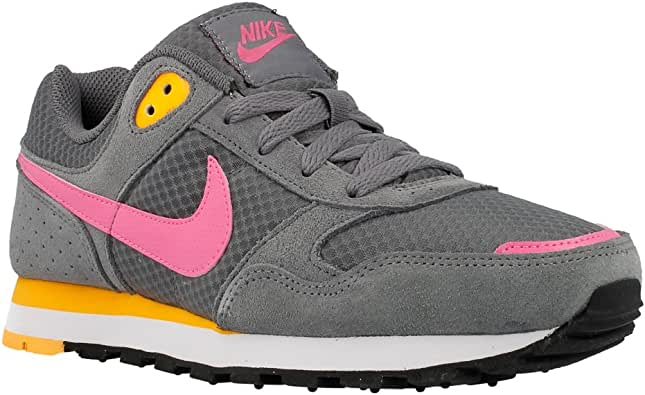 Nike MD Runner GG - Zapatillas de Running para niña, Color Gris/Rosa/Naranja: Amazon.es: Zapatos y complementos