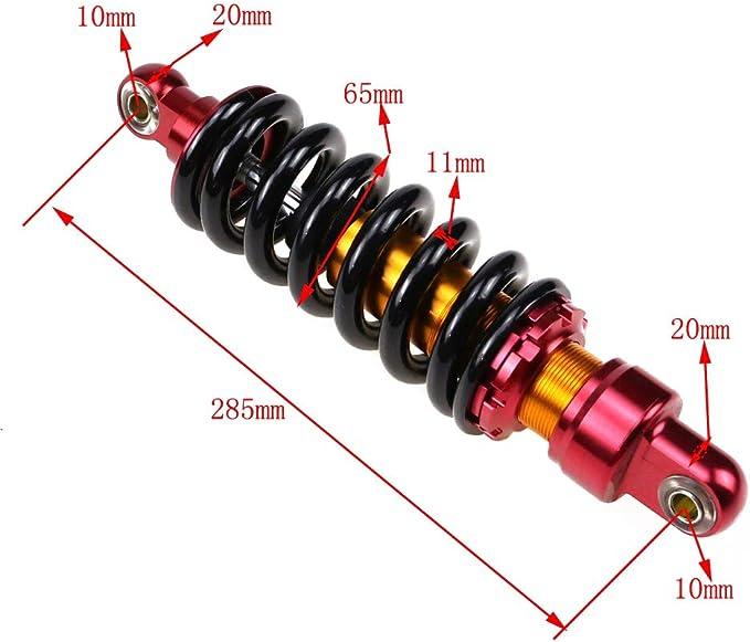 "10.3/"" 260mm Rear Shock Absorber 1200lbs for Dirt Bike Scooter Pister Pitpro DHZ"