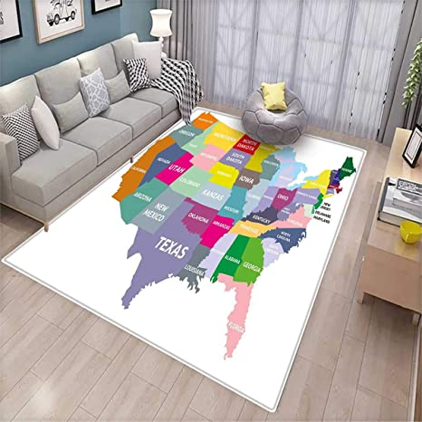 Amazon.com: Map Kids Carpet Playmat Rug USA Map with Name of ... on map of canada with provinces, google maps with state names, map united states happiness, map of the most racist states in the usa, map of us states with state abbreviations, new york map with state names, american 50 states map with names, world map with state names, map of las vegas strip with hotel names, full state names, map of usa and mexico, united states with state names, map canada with state names, map of canada with faces on it, map of texas with cities and towns, time zone map usa with state names, map of texas counties with names, map of georgia counties with names, asia map with state names, us map with state names,