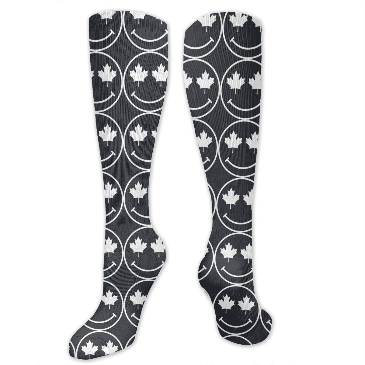 Womens Stockings Ultra Soft CANADIAN SMILEY Long Boot Socks