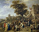 'Teniers David Fiesta Aldeana Ca. 1650 ' Oil Painting, 30 X 37 Inch / 76 X 94 Cm ,printed On Polyster Canvas ,this Best Price Art Decorative Canvas Prints Is Perfectly Suitalbe For Dining Room Decor And Home Gallery Art And Gifts offers