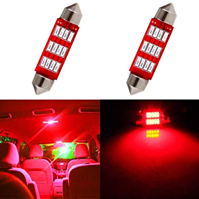 cciyu 578 Festoon LED Bulbs 42mm LED Lights Red LED Interior Car Lights 211 212-2 214-2 211-2 214-2 6411 560 569 578 Dome Map Door Light Courtesy Light Bulbs Pack of 2: Automotive