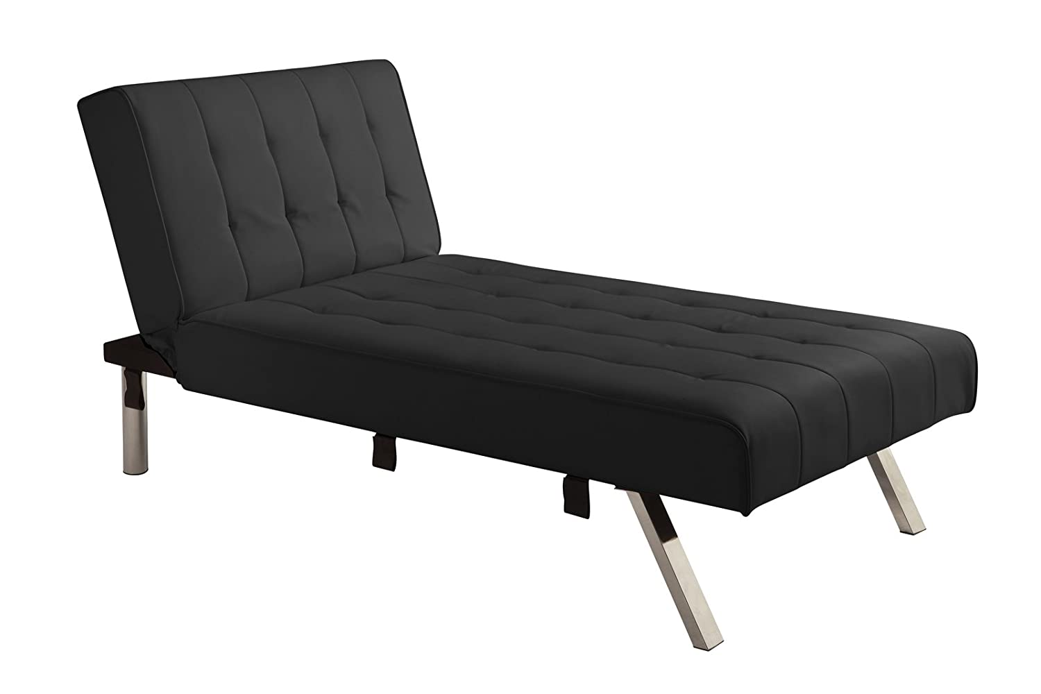 Amazon.com DHP Emily Linen Chaise Lounger Stylish Design with Chrome Legs Black Kitchen u0026 Dining  sc 1 st  Amazon.com : chaise furniture for sale - Sectionals, Sofas & Couches