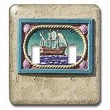 Danita Delimont - California - Decorative tile, Catalina Island, California - US05 AJE0029 - Adam Jones - Light Switch Covers - double toggle switch (lsp_88130_2)