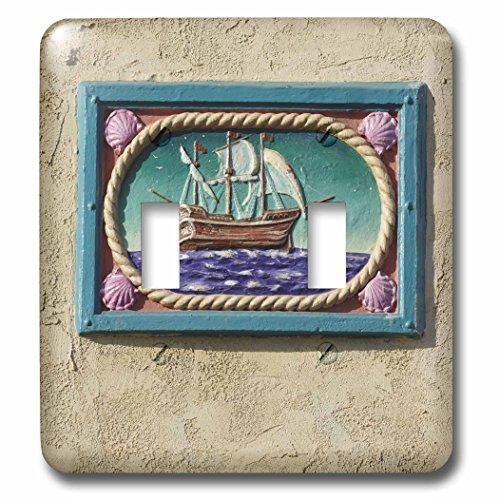 (3dRose LSP_88130_2 Decorative Tile, Catalina Island, California-US05 AJE0029-Adam Jones Double Toggle Switch)