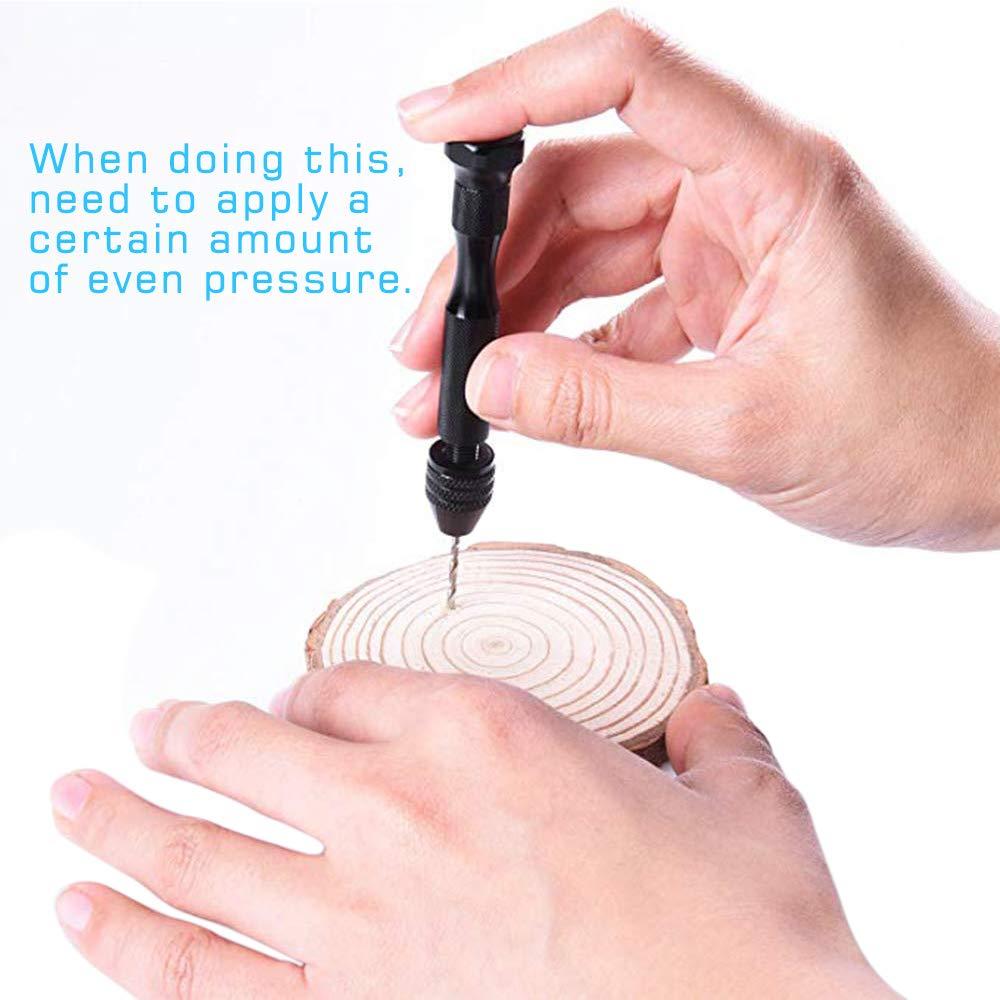 Juego de 20 brocas para taladro de mano con brocas giratorias de precisi/ón para madera pl/ástico joyas 0,3 /– 1,6 mm