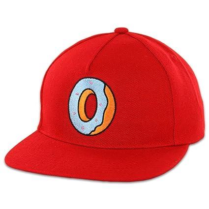 a72257b9c90ca Amazon.com  Odd Future Single Donut Snapback (Red) Hat Cap  Sports    Outdoors