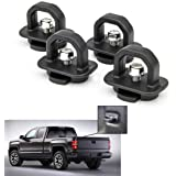Tie Down Anchors 4Pcs Truck Bed Side Wall Anchor fit for 07-18 Chevy Silverdo/GMC Sierra,15-18 Chevy Colorado/GMC Canyon…
