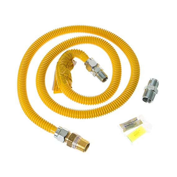 Amazon.com: BrassCraft 4 ft. Gas Range Connector Kit Auto Shut Off: Home & Kitchen