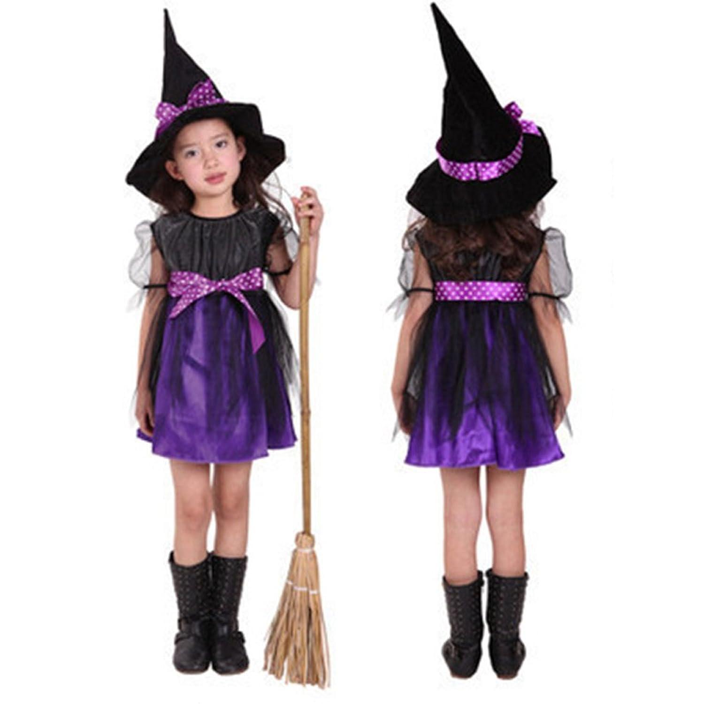 Famoso Costume da Strega Vestiti Halloween Bambina Costume Halloween  UQ92